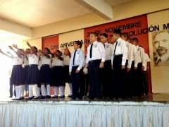 Con Acto Cívico conmemoran el 107 aniversario de la Revolución Mexicana en Loma Bonita. 2